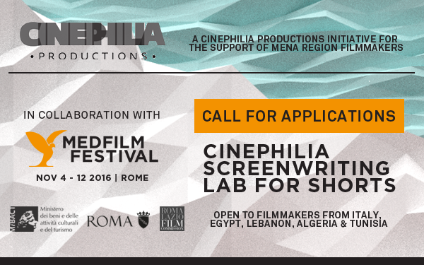 NEWS: Cinephilia Screenwriting Lab for Shorts